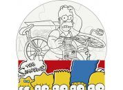 Efko Puzzle The Simpsons Vymaluj si kruh
