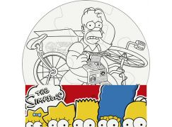 Efko Puzzle The Simpsons Vymaluj si kruh