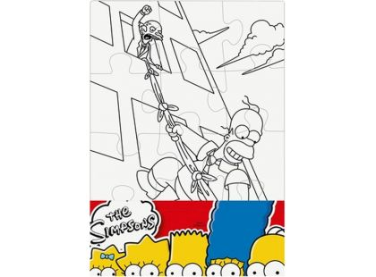 Efko Puzzle The Simpsons Vymaluj si obdelník
