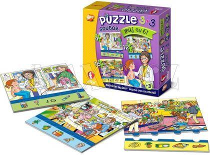 Efko Soubor Puzzle 3 v 1 Můj svět