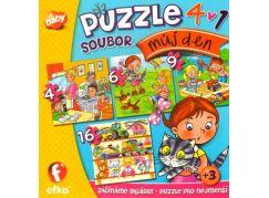 Efko Soubor puzzle 4v1 můj den