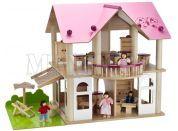 Eichhorn Dřevěný domeček s nábytkem a panenkami