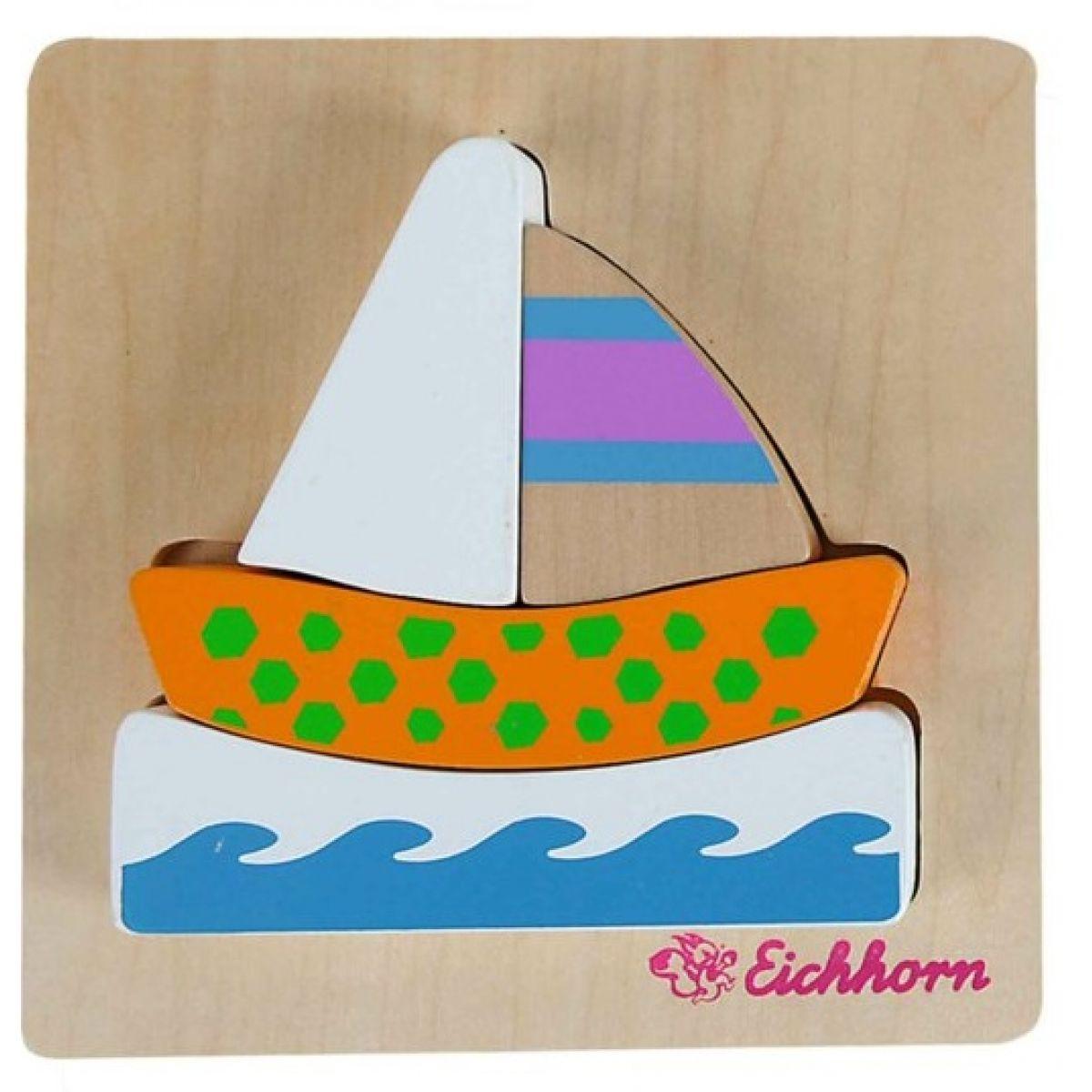 Eichhorn Dřevěné puzzle pro nejmenší loďka