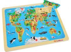Eichhorn Dřevěné puzzle s mapou světa
