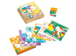 Eichhorn Hello Kitty dřevěné kostky 9 ks