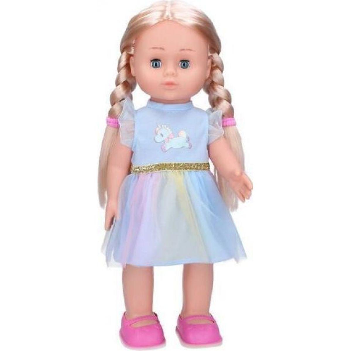 Eliška chodící panenka 41 cm modré šaty