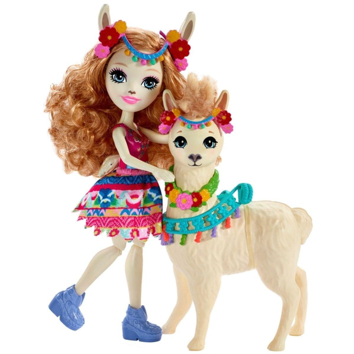 Enchantimals panenka s velkým zvířátkem Lama