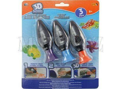 EP Line 3D Magic náhradní náplň 3ks - fialová + oranžová + modrá