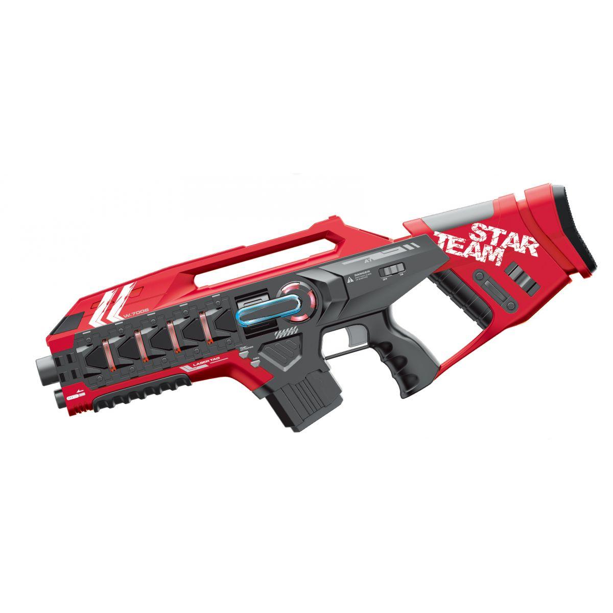 EP Line Laser game sada se dvěma velkými zbraněmi červená-žlutá