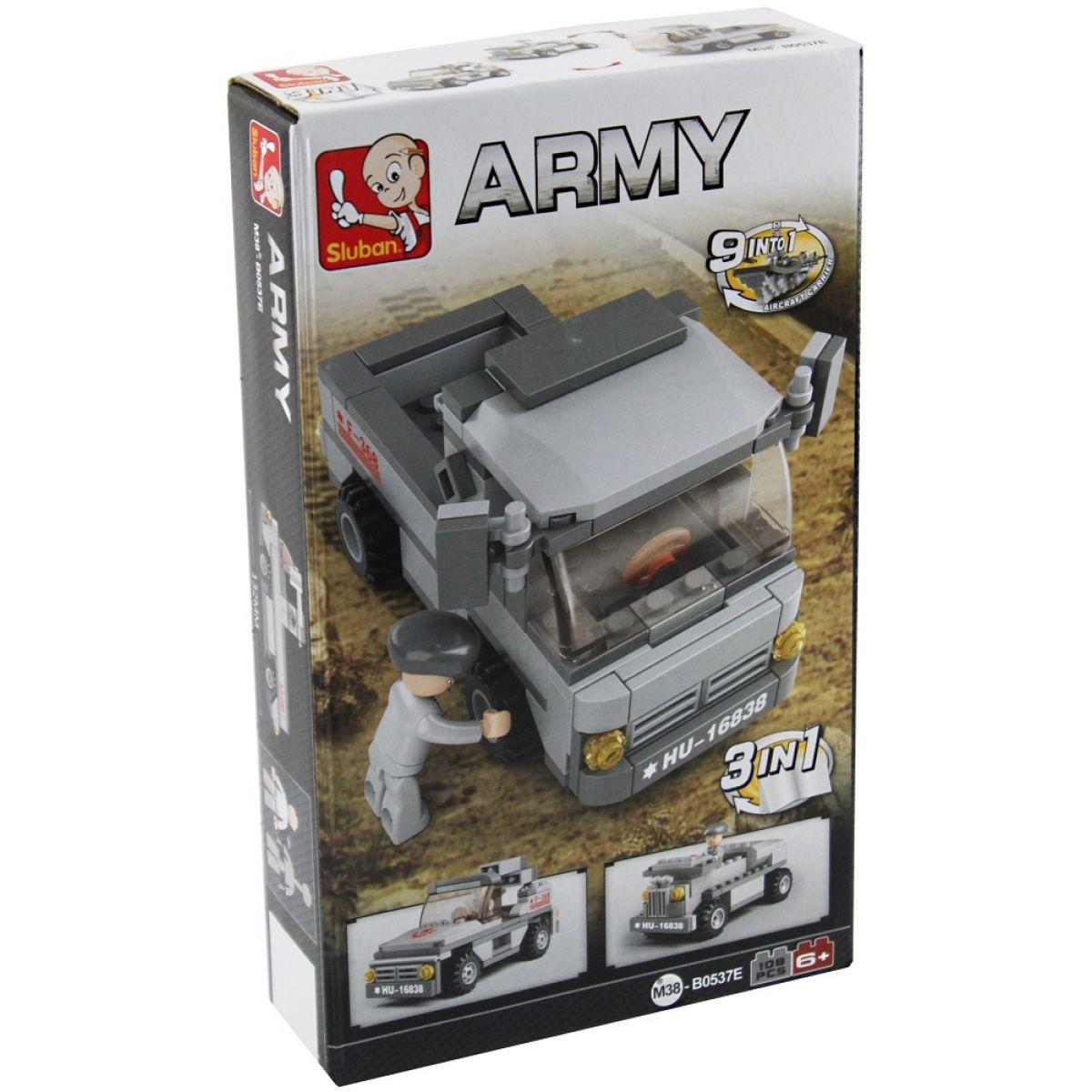 EP Line Sluban Stavebnice 3v1 Vojenské vozidlo