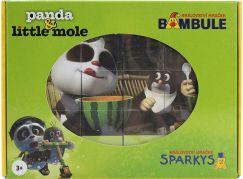 EPline Dřevěné kostky Krtek a Panda