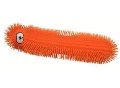 Epline Ježura housenka délka 50cm svítící oranžová