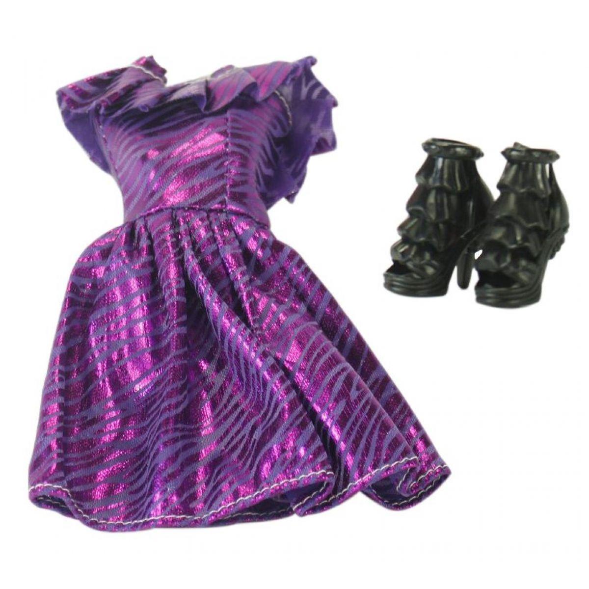 EPline Šatičky pro panenky s doplňky fialové šaty