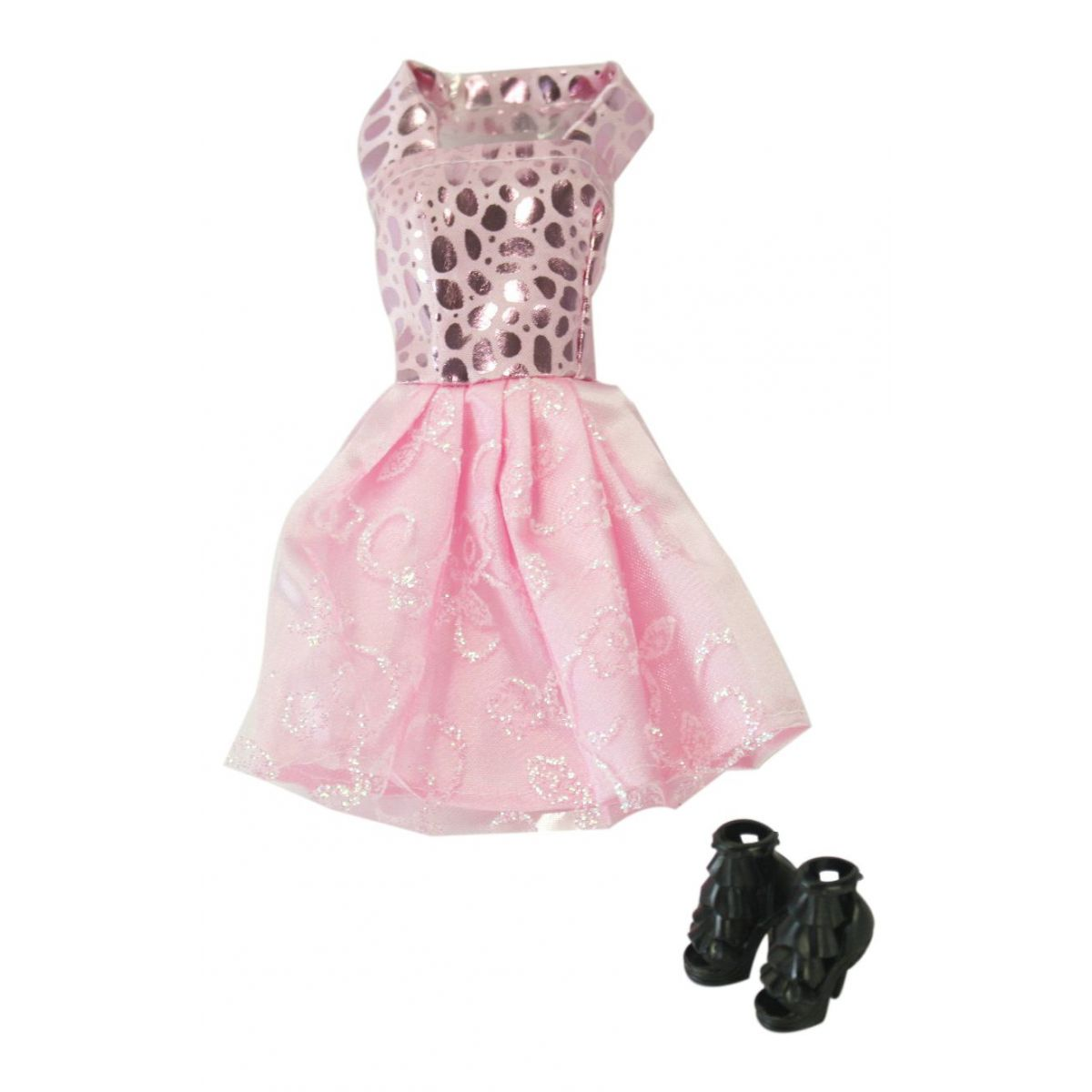 EPline Šatičky pro panenky s doplňky růžové šaty
