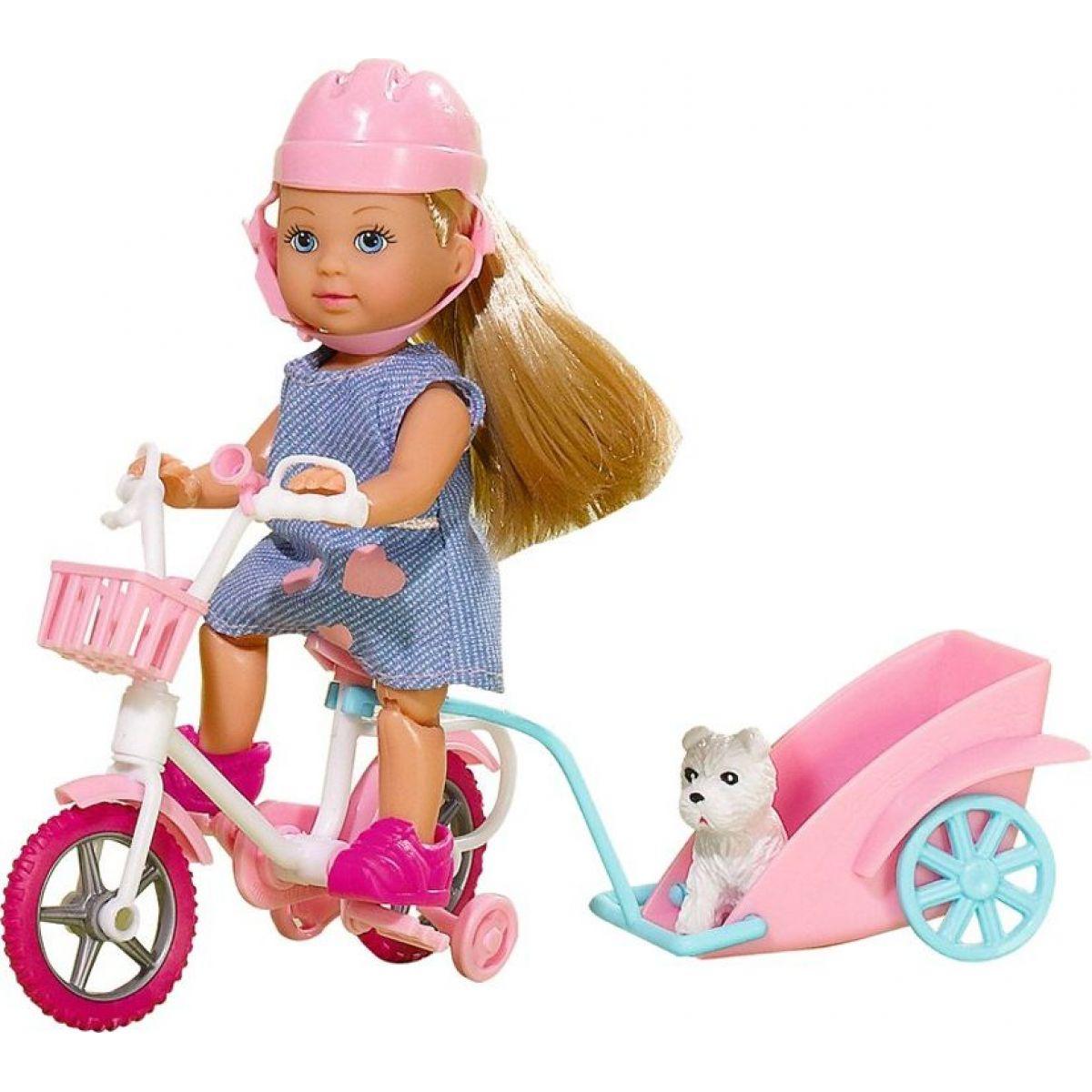 Evi Love Panenka Evička na kole s vozíkem šaty
