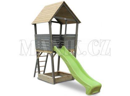Exit Aksent Dřevěná věž se skluzavkou