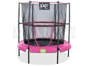 EXIT Trampolína Bounzy Mini Pink s ochrannou sítí 140cm