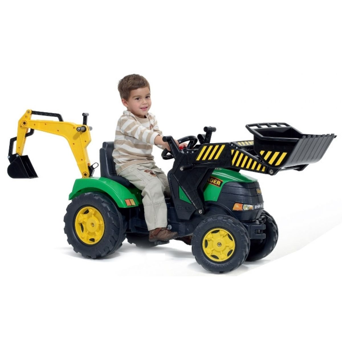 Falk Šlapací traktor s nakladačem a bagrem