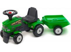 Falk Odstrkovadlo traktor Farm Master 350S s valníkem a volantem