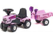 Falk Odstrkovadlo Traktor Princess s volantem a valníkem