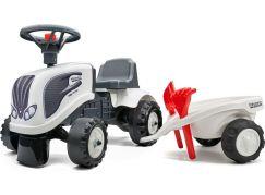 Falk Odstrkovadlo traktor Valtra bílé s volantem a valníkem