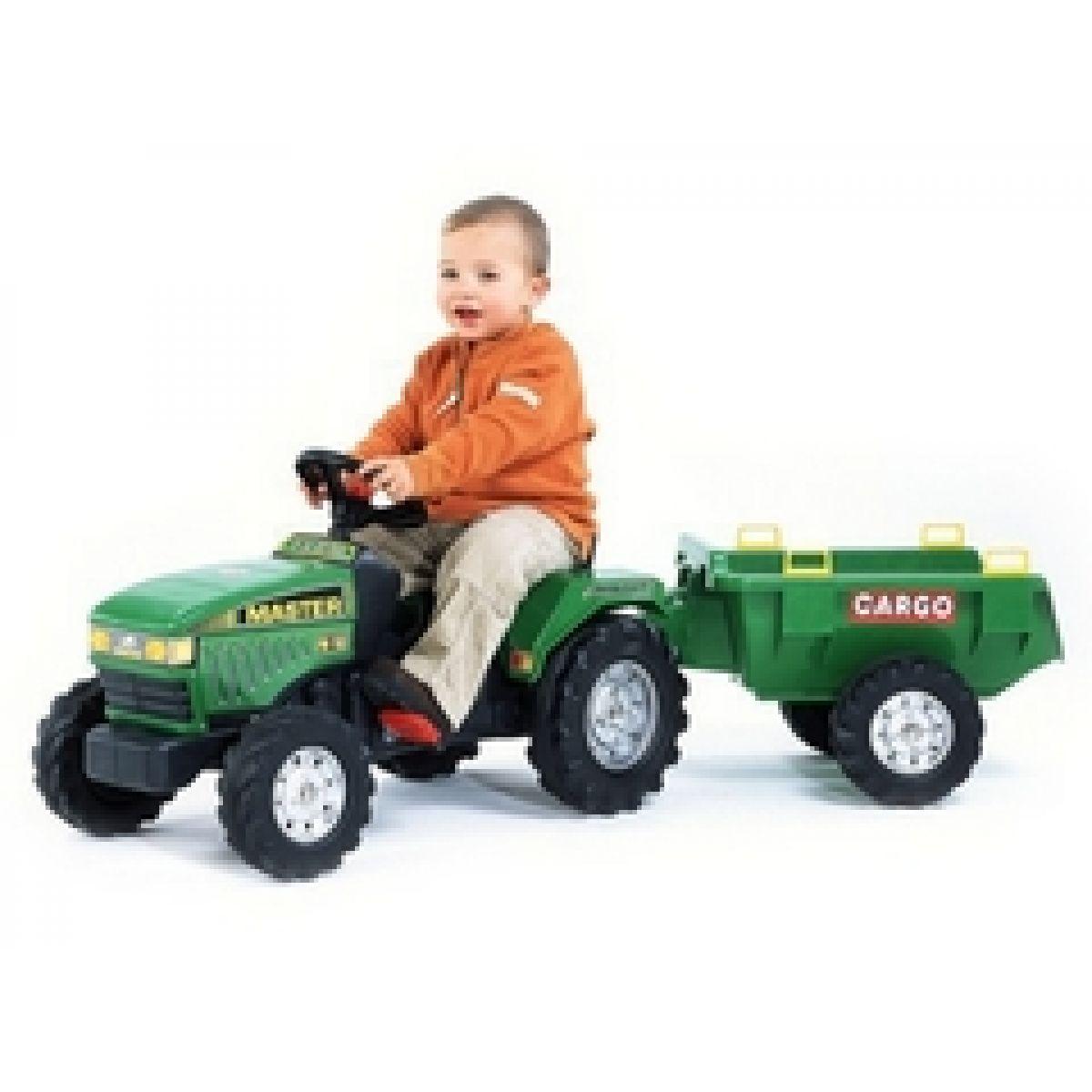 Falk Traktor Farm Master FM 150 zelený + přívěs CARGO (896V)