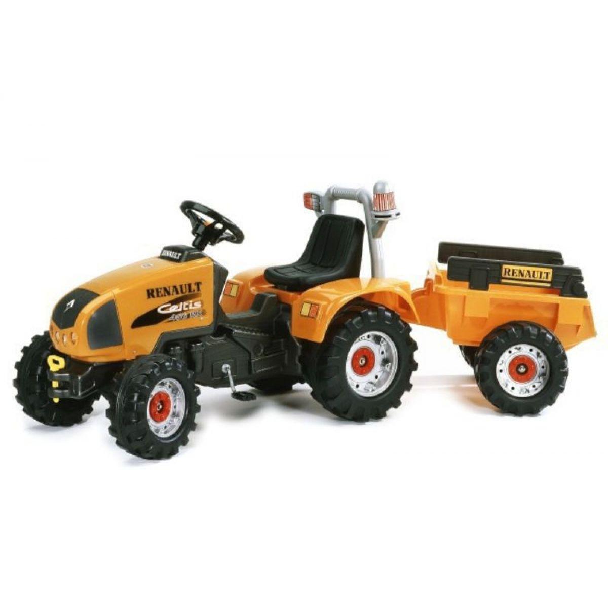 Falk Traktor Renault Celtis 456 RX oranžový + přívěs oranžový