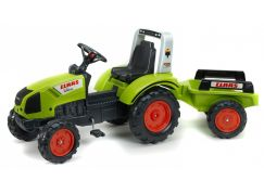 Falk Traktor šlapací Claas Arion 430 s valníkem zelený