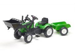 Falk Traktor zelený Falk Lander Z160X s valníkem a přední lžící