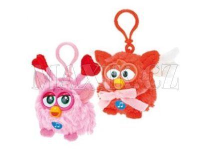 Famosa Furby přívěšek plyš růžový 8 cm se zvukem