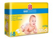 Fine Life MIDI  Diapers 68 pcs
