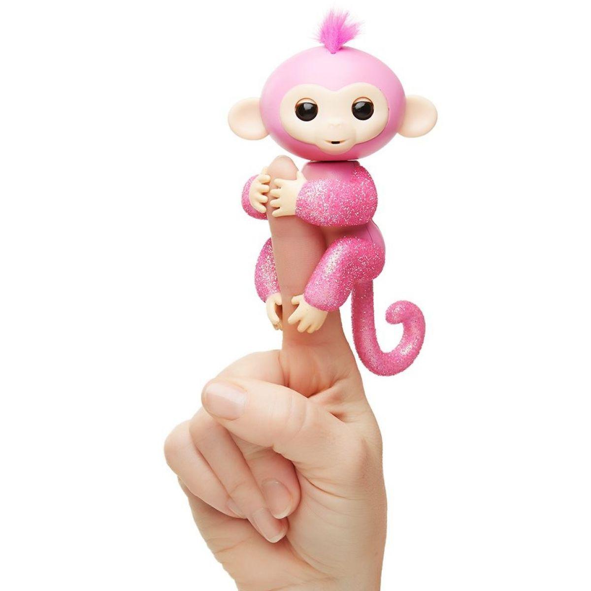 Fingerlings Opička třpytivá Rose světle růžová