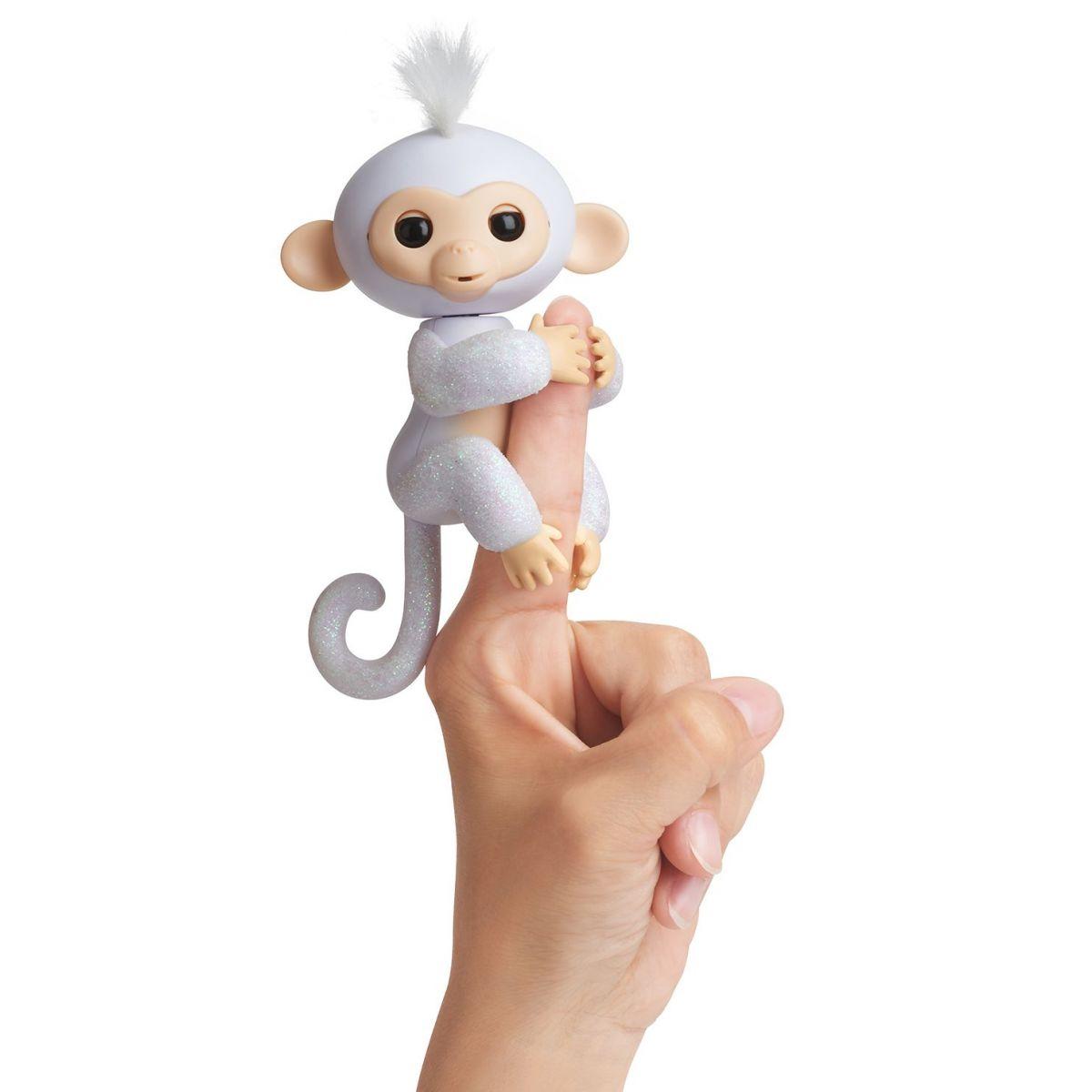 Fingerlings Opička třpytivá Sugar bílá