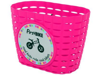 First Bike Košík na řidítka růžový