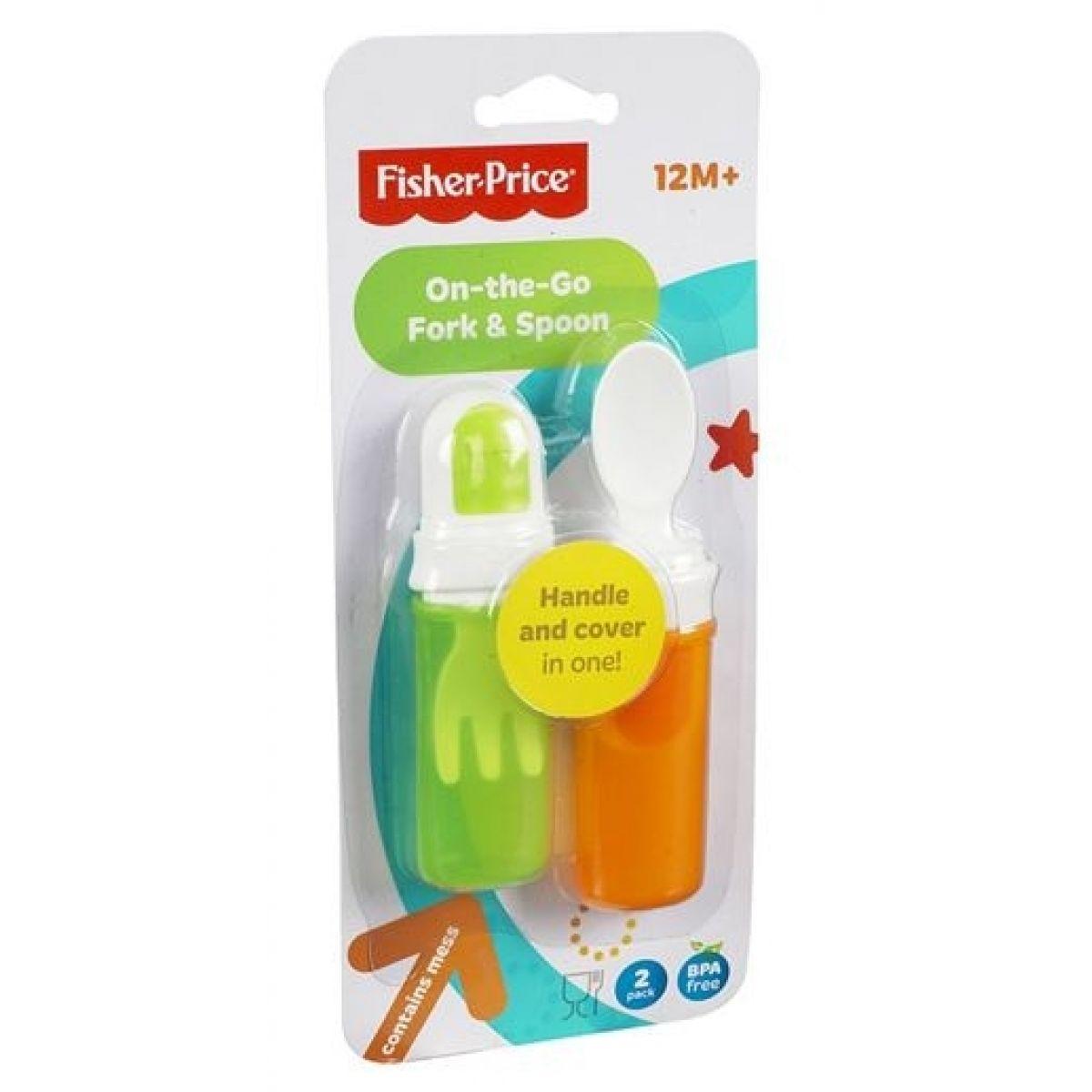 Fisher Price Cestovní lžička s vidličkou