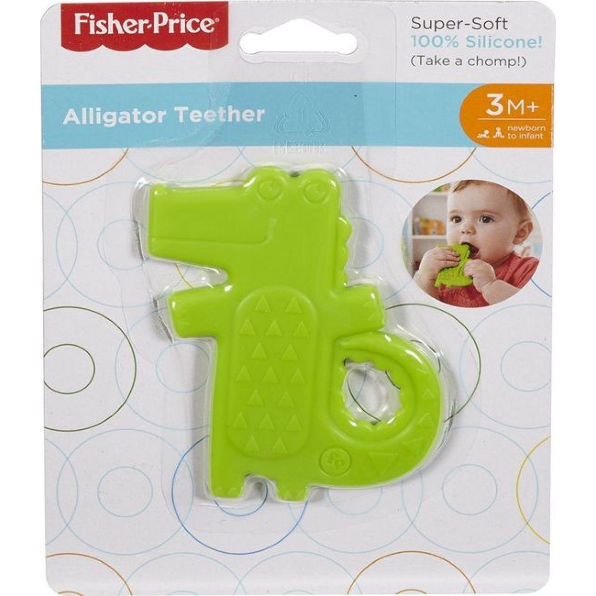 Fisher Price kousátko krokodýl zelený