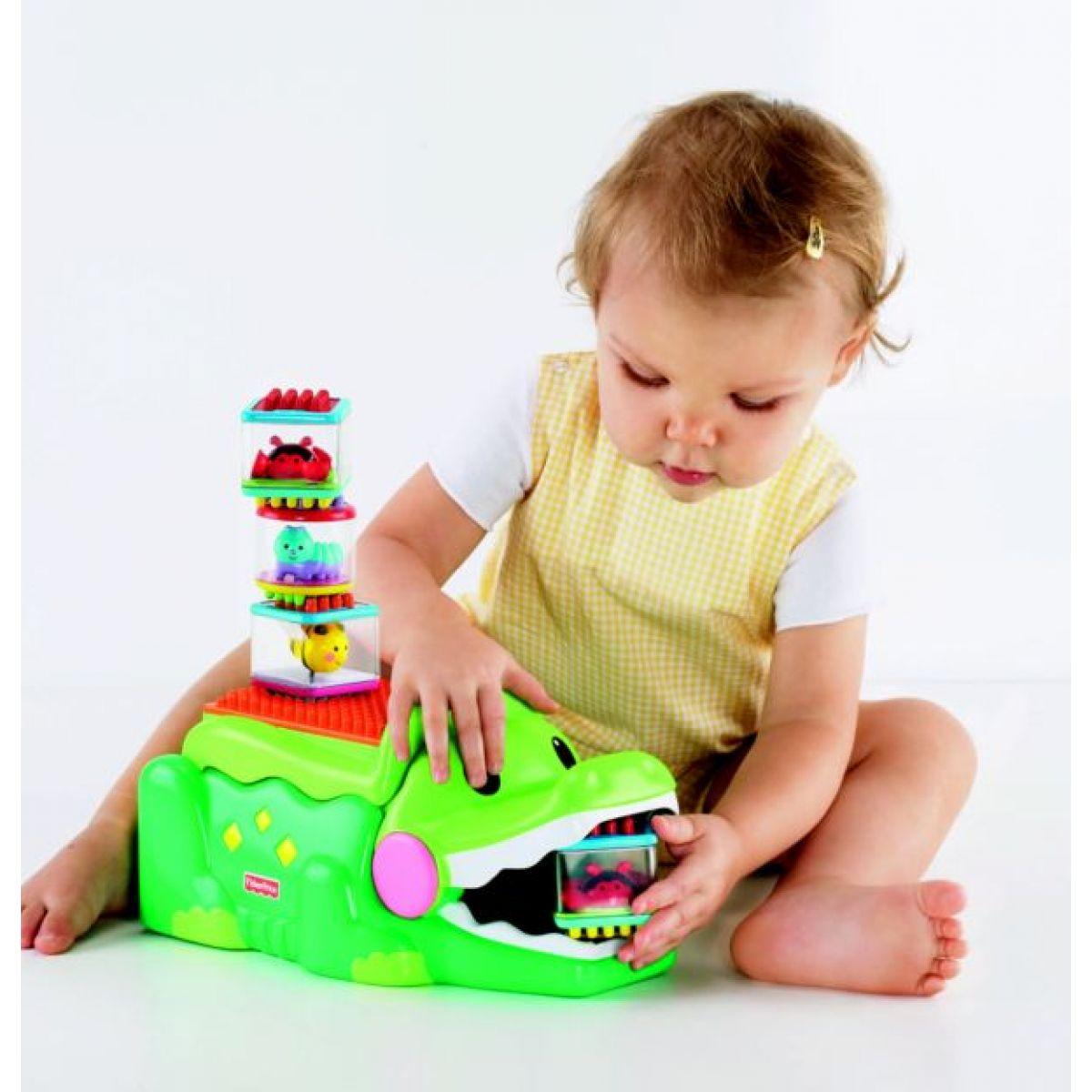 Fisher Price Krokodýl se veselými kostkami Mattel J5293