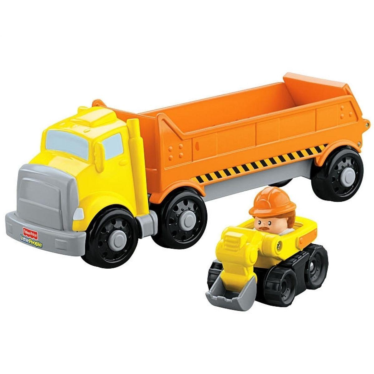 Fisher Price Little People Wheelies autíčko a transportér - Nákladní auto
