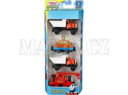 Fisher Price Mašinka Tomáš Take-n-Play Multi Pack - Lift Load Cargo Crew