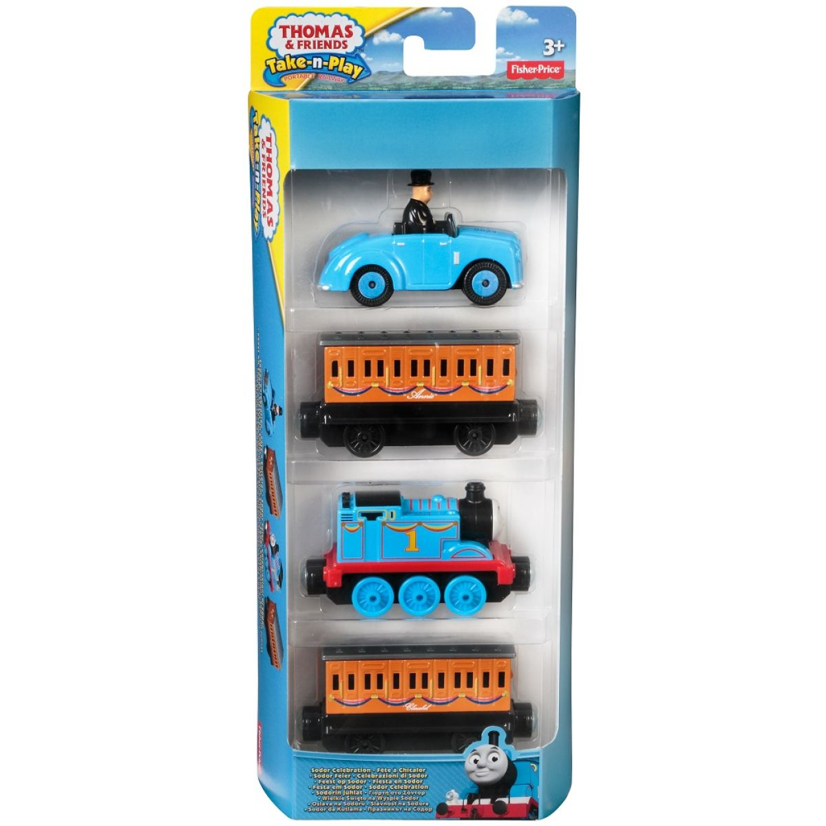 Fisher Price Mašinka Tomáš Take-n-Play Multi Pack - Sodor Celebration