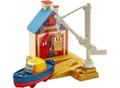 Fisher Price Mašinka Tomáš TrackMaster Trať se záchrannou stanici - Captain At The Rescue Centre