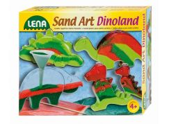 Lena Fotorámeček z barevným pískem, malé dinosaurus