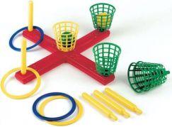 Frabar Hra kříž s košíky, míčky, kroužky