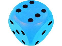 Frabar Soft kostka s puntíky 1-6 Modrá