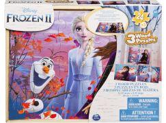 Spin Master Frozen 2 dřevěné puzzle 3 x 24 dílků