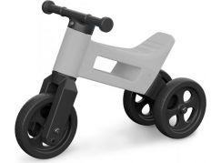 Teddies Funny Wheels Odrážedlo 2v1 šedé