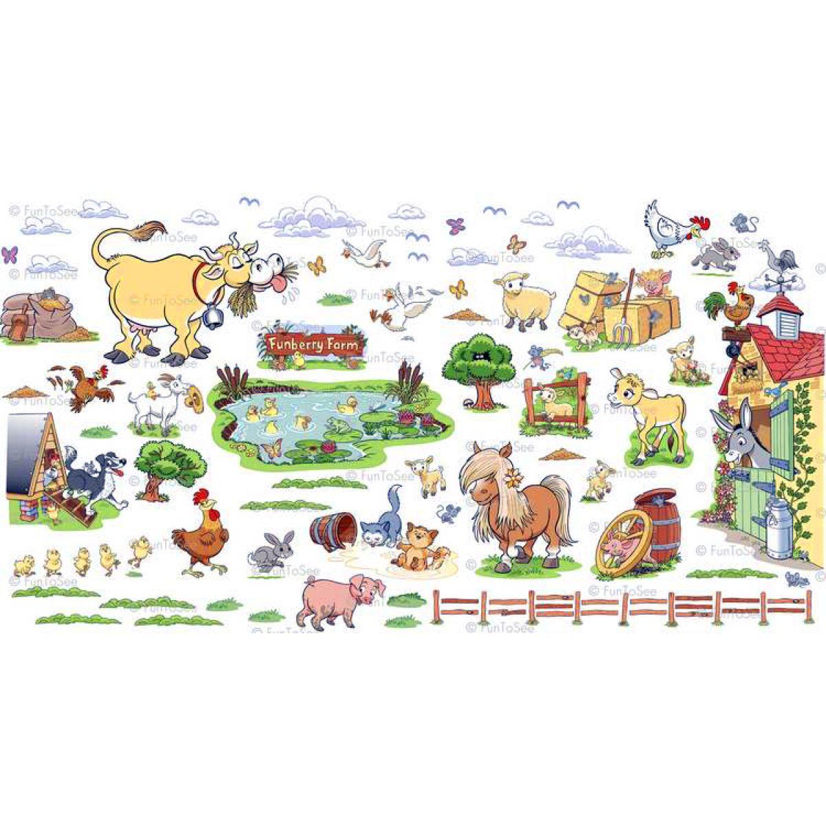 FunToSee Dekorace na zeď velké Farma