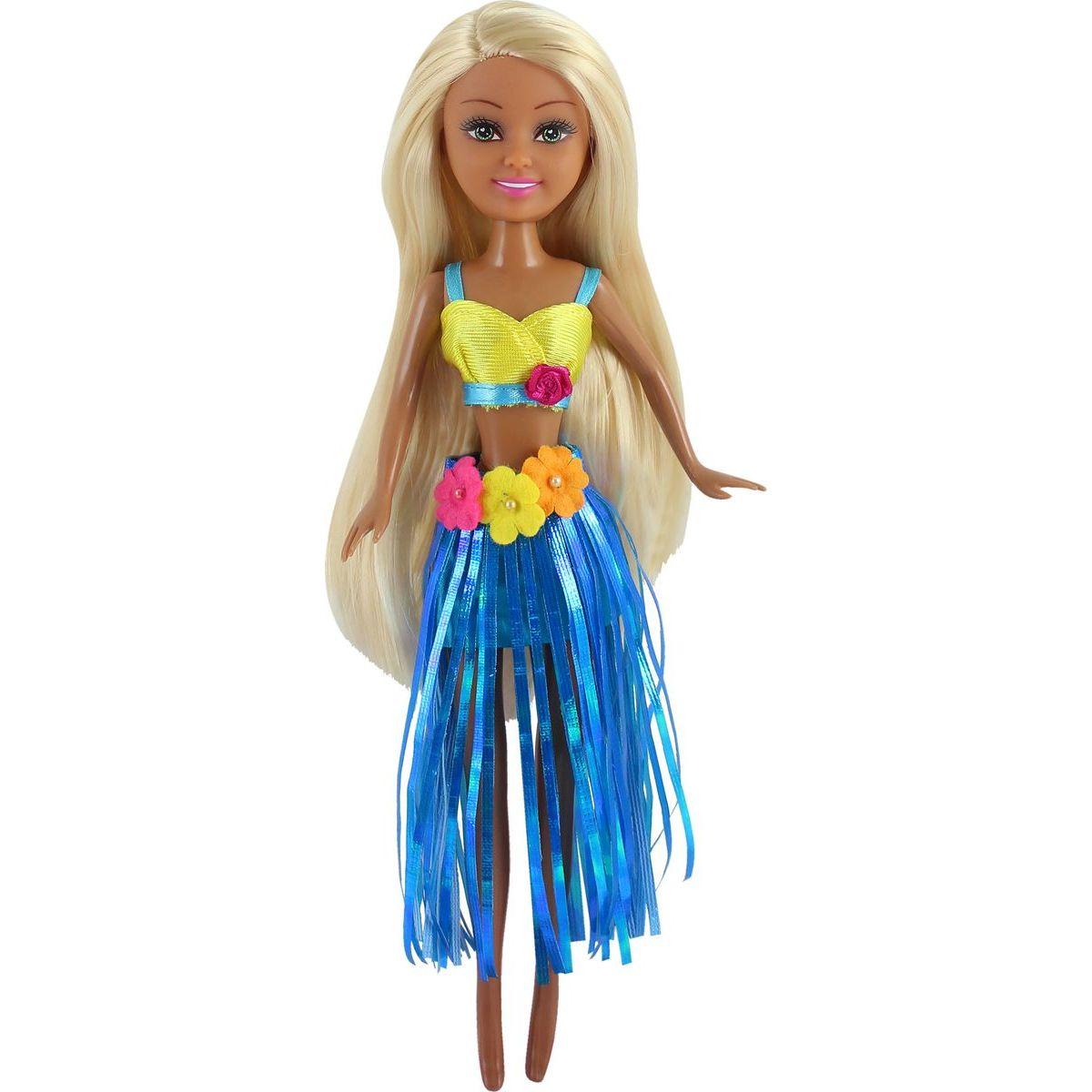 Funville Panenka z Oceanie Sparkle Girlz v kornoutu modrá sukně