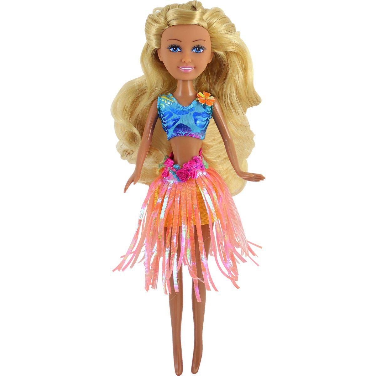 Funville Panenka z Oceanie Sparkle Girlz v kornoutu oranžová sukně