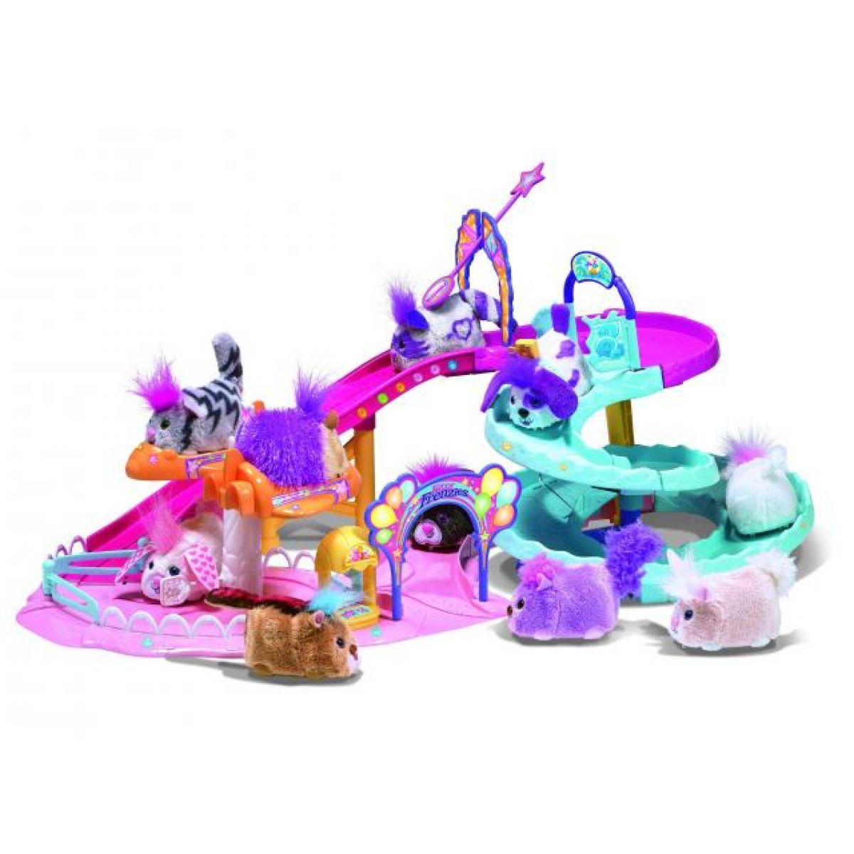 Furry Frenzies velká hrací sada s tobogánem a se zvířátkem Furreal Friends 32808